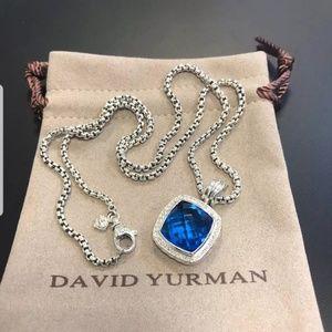 David yurman blue topaz 14mm necklace